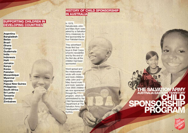 Salvos – Child Sponsorship brochure